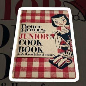 Vintage better homes and garden junior cookbook